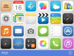 一套ios7 扁平化风格的icon图标合集