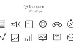一组ios 7 标签栏图标改进版