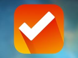 橘黄色的长阴影确认打勾icon图标