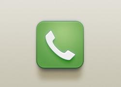 绿色风格的电话icon图标