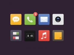 一组手机icon图标集