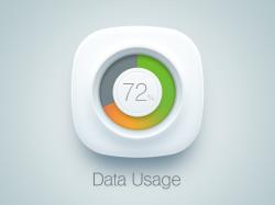 一个电量百分比显示的icon图标设计