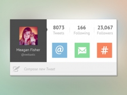 Twitter UI用户中心界面组件下载