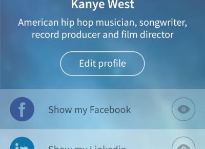 国外蓝色扁平化风格的用户中心界面设计