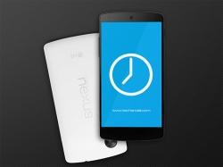 手机模板之谷歌Nexus5 样机PSD模板