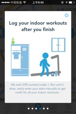 健身应用RunKeeper引导页设计图