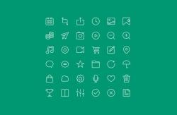 36个线框风格的icon图标设计源文件