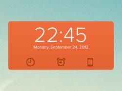 一个时钟时间组件psd下载