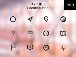12个免费的地图定位icon小图标下载