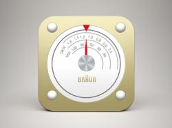 银色圆色收音机app icon图标