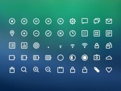 一组常用的icon图标psd下载