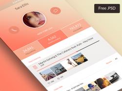 粉色ios7风格的个人资料页UI设计源文件下载