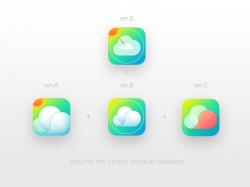 PM2.5空气质量ICON创意图标设计