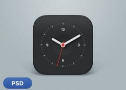 IOS 风格的时钟APP图标源文件下载