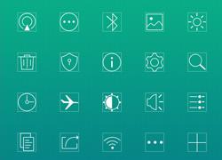 一套ios风格细线框icon图标下载