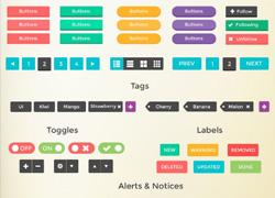 超全面的扁平化风格UI工具包下载