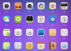 非常亮眼的手机界面icon图标集