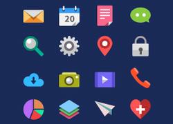 一组扁平化的icon图标合集 非常不错