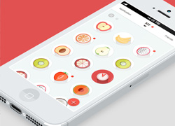 扁平化风格清新水果元素的APP界面设计欣赏