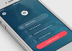 国外扁平化APP设计之Flat Mobile UI/UX Concept