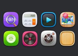 一组圆润偏可爱的icon图标设计