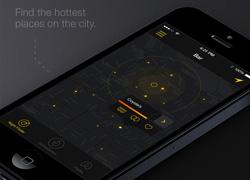 酷炫深色的Night Finder App界面设计