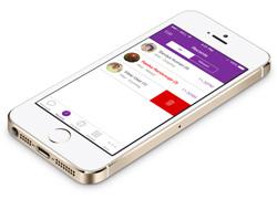 紫色风格的Viber ios7 设计概念界面
