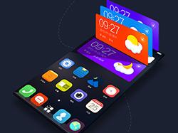 中国电信手机云桌面主题设计作品 彩翼