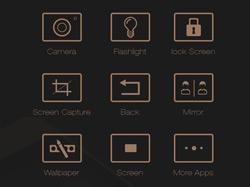 一款土豪金颜色的手机主题UI设计欣赏