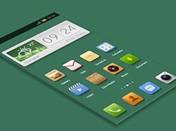嫩绿清爽的UI主题界面设计欣赏