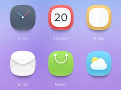 精致细腻鲜艳的大圆色手机UI主题设计欣赏