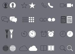 一组ios7风格的阴阳icon图标集下载