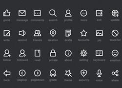 粗线框风格的一组icon图集psd下载