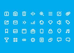 16像素的线框小图标icon AI文件下载