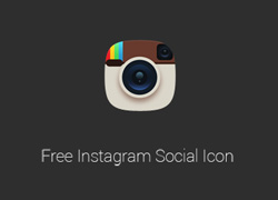 instagram相机图标icon源文件psd下载