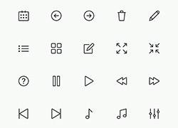 经典的icon线框图标合集2 适合扁平化噢