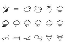 42个适合天气类APP应用的icon小图标下载