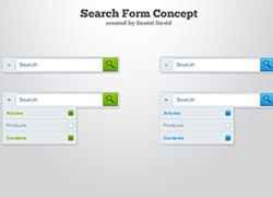 一组精美的适合APP使用的下拉搜索框工具包