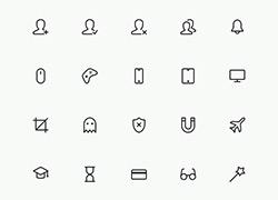 经典的icon线框图标合集4 适合扁平化噢