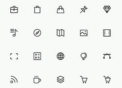经典的icon线框图标合集3 适合扁平化噢