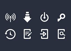 11个100像素的粗线框icon图标设计psd下载