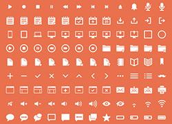 256个常用经典的APP UI ICON图标合集