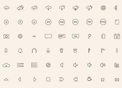144个线框型icon图标合集PSD+AI源文件下载