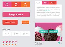 清新粉嫩的一款扁平化概念APP UI客户端设计