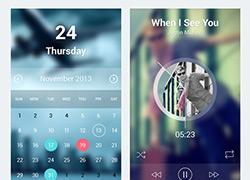 炫丽多彩的IOS7 风格的APP UI设计