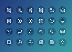 24个清新脱俗的icon图标下载