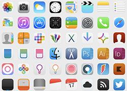 一套超精美的ios7 下的icon图标合集下载