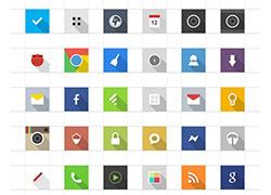 一组经典的优质的Android icon图标