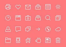简约粉红的手机icon小工具图标