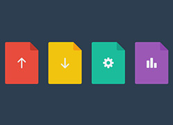 四个扁平化的icon图标